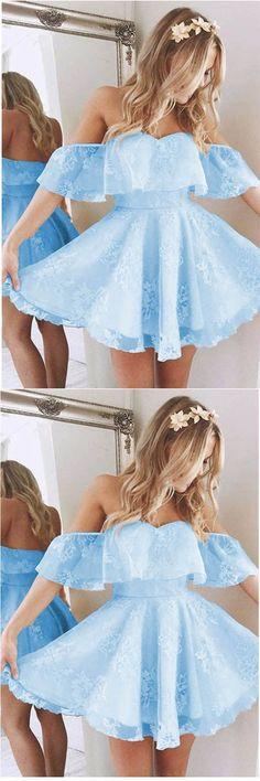 Prom Dresses Short #PromDressesShort, Prom Dresses Lace #PromDressesLace, A-Line Prom Dresses #A-LinePromDresses, Prom Dresses 2018 #PromDresses2018, Cute Prom Dresses #CutePromDresses
