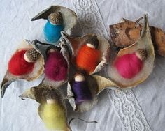 SEWNnatural » Seed pod babies (little kids' craft idea)