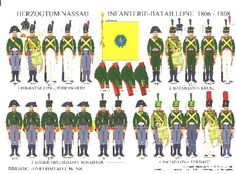 The 2 Nassau infantry regiments