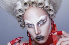 The drag scene in Europe is really growing and european queens are really amazing artists. In they drag makeup and style you can see lot of Leigh Bowery club kids history impact.