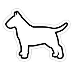 Bull Terrier Silhouette Waterproof Die-Cut Sticker