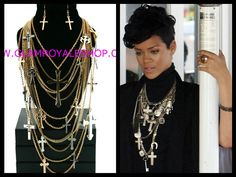 ****New Arrivals**** YOU'VE SEEN IT ON RI RI NOW GET YOURS....!! BOLD LAYERED CROSS Set (3colors) ----Get It Now------> http://www.glamroyaleshop.com/product_p/gras.67.htm