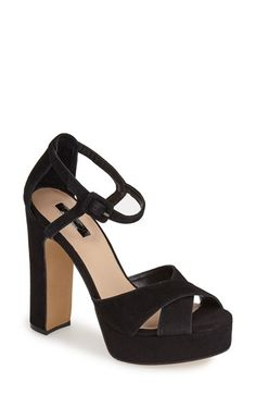 Topshop+'Locket'+Platform+Suede+Sandal+(Women)+available+at+#Nordstrom