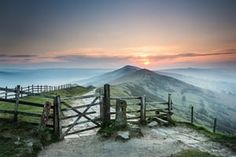 Mam Tor, in the High Peak of Derbyshire near Castleton, by Wayne Brittle.