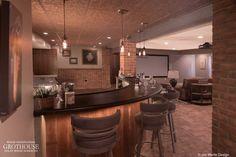 Wenge Wood Basement Bar Top