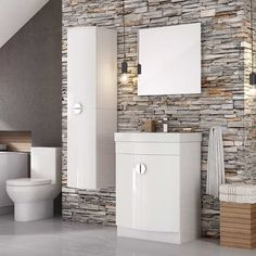 Never has finding space in your bathroom for all of your toiletries been easier or more stylish. #modernvanityunits