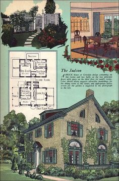 1925 American Builder Magazine - House Plans - Colonial Revival - Georgian - William A. Building Plans, Building A House, Vintage House Plans, Vintage Houses, Maids Room, 1920s House, Sims House, Kit Homes, Historic Homes