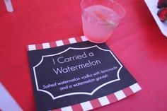 I Carried a Watermelon Cocktails | How to throw a Dirty Dancing-themed party.  Check out www.gracestores.com for other Dirty Dancing recipes!