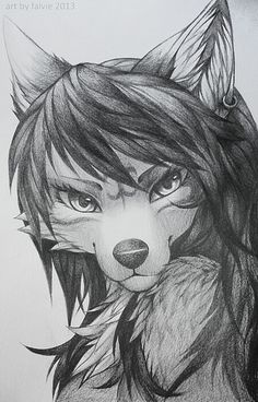 Furry sketch. I REALLY wish I could draw like this!!! :/