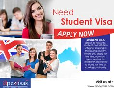Student visa, which allows its holder to study at an institution of higher learning in the issuing country.Before you apply for this visa, you must have applied for and been accepted to study full-time at a college/university. You must provide evidence of your Enrolment and proof of your financial capacity to undertake the course, at the time that you lodge your application.