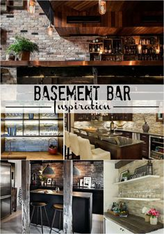 Basement Bar Inspiration   Rustic Industrial Glam   Stacked Stone   This Is  Our Bliss