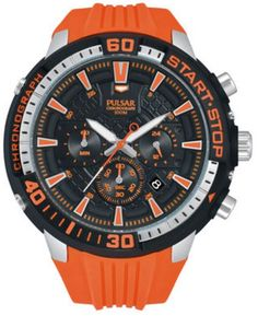0427cde0e Pulsar Men's X Chronograph Orange and Black PT3511 Buy Watches Online,  Gents Watches, Sport