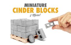 Miniature Cinder Blocks and Mini Construction Materials Gift For Architect, Model Maker, Big Box Store, Steam Room, Interactive Activities, Project Based Learning, Construction Materials, Model Building, Communication Skills