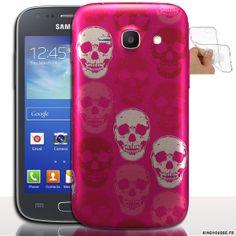 Housse souple Skull Rose pour Samsung Galaxy Ace 4 - Housse silicone de protection antichocs. #Ace4 #Samsung #Skull #Coque