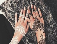 henna, nails, and style image
