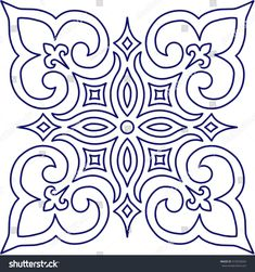 Geometric Islamic Pattern Arabesque blue and white. Geometric Islamic Pattern Arabesque blue and white. Geometric Islamic Pattern Arabesque blue and white. Stencil Patterns, Pattern Art, Embroidery Patterns, Motifs Islamiques, Motif Arabesque, Islamic Patterns, Free Motion Quilting, Dot Painting, Mosaic Art