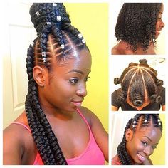 Half Up Half Down : Will Be Uploading On My YouTube Channel  FishBone Goddess Braids | Hair Trim + Versatile Goddess Braids Using 4 Packs Of Braiding Hair. We Also Applied Our Swank'dOrganics Moisturizer To Enhance Her Hair's Growth.  Seantae Marie • Professional Cosmetologist • www.swankdnation.com  #kissimmeehairstylist  #orlandohair  #orlandohairstylist  #tampahairstylist  #ucfhairstylist  #miamihairstylist  #newyorkhairstylist  #queenshairstylist #bronxhairstylist  #nashvillehairsty...