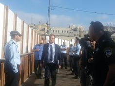 Activists from Peace Now Movement demonstrated Tuesday at al-Magharba gate where MKs Yehuda Glick, of Likud party, and Shuli Moalem-Refaeli, of the Jewish Home, broke into al-Aqsa Mosque.