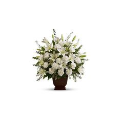 Flowers for Funerals - White Sympathy Flowers & Arrangements -... ($122) ❤ liked on Polyvore