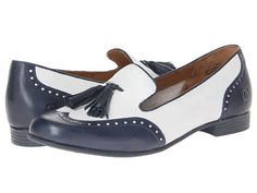 Born Charmaine Bianco (White) / Blue - Zappos.com Free Shipping BOTH Ways