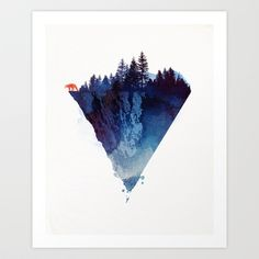 Watercolor Wall Art mountain wall art print watercolor poster naturewhitedoeprints
