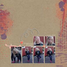 My Niece, Lina.   I`ve used a paper from:  Autumn Art Papers Kit #1 by Marisa Lerin  The elements are from:  Furry Friends- Kitty Elements Kit by Sheila Reid Both at www.pixelscrapper.com