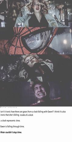 Peter couldn't stop time. | Peter Parker Spider-Man Gwen Stacy Death Peter Crying Sad Quotes