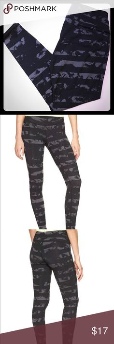GapFit gFast Abstract Print Black Leggings Pants Like new Gap Active Leggings. Designed exclusively for Factory Stores. Breathable, high-performance stretch jersey pulls moisture away from skin to keep you dry. Compression provides support during your workout. Four-way stretch allows freedom of movement while providing superior shape retention. Flatlock seams prevent chafing. Tagless design provides comfort and ease. Elasticized waist. #413697  fabric & care 85% Polyester, 15% Spandex…