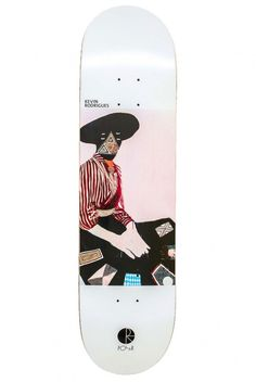 AMTK Rodrigues Card Reader skateboard deck by Polar.