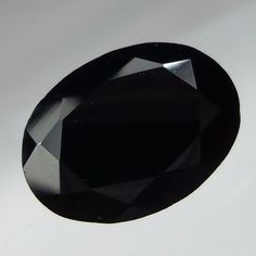 6.2 Crt 10x13.5 MM Natural Black Spinel Oval Shape Cut Stone Micro Faceted Gems #Unbranded