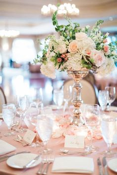 Filled with dreamy, light pink details and tons of sparkle, we're loving every detail of this Florida wedding! Photos by Hunter Ryan Photo.