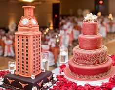 his and hers wedding cakes | his and hers