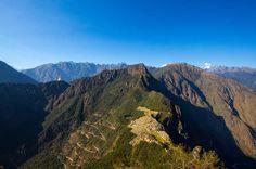 View of Machu Picchu form Huayna Picchu Sacred Mountain