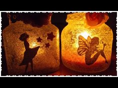 Create a cute as buttons fairy in a jar lantern that can be used as a nightlight or magical accent. Fairy Lanterns, Art And Hobby, Fairy Jars, Button Crafts, In The Tree, Pumpkin Carving, Diy And Crafts, The Hobbit, Candles