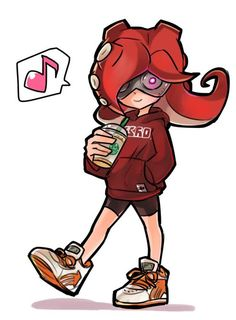 *walks slowly and sees octoling* hi there...