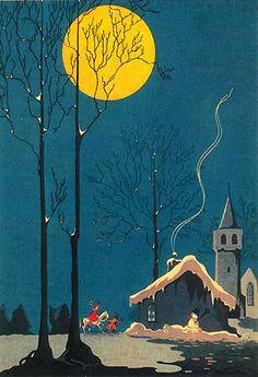 Sinterklaas riding through the night. Repinned by www.mygrowingtraditions.com