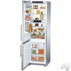 Liebherr CS1361 13 cu. ft. Counter-Depth Bottom-Freezer Refrigerator with 4 Glass Shelves, 3 Freezer Drawers, Factory Installed Ice Maker, LED Lighting and Digital Temperature Display: Left Hand Door Swing