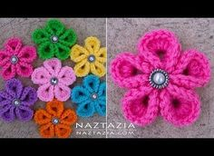 [Video Tutorial] This Gorgeous Crochet Japanese Flower May Become Your New Favorite Go-To Flower When You Need A Quick One - Knit And Crochet Daily