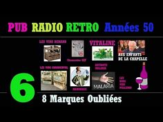 PUB RADIO RETRO Années 50-partie6/6 (100 réclames radiophoniques sur radio Luxembourg) - YouTube Radios, Pub Radio, Luxembourg