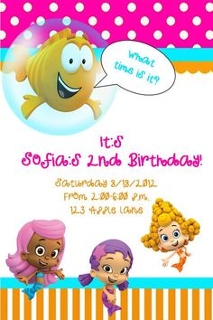 Bubble Guppies invite