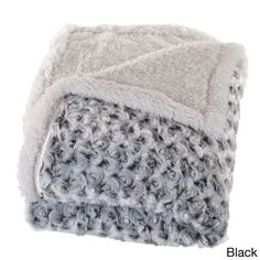 Trademark Windsor Home Plush Flower Sherpa Throw Blanket