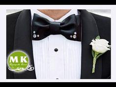 Мастер-класс Канзаши. Галстук-бабочка из атласной ленты/Bow tie satin ribbons - YouTube