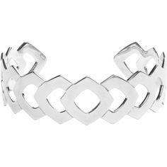 Vélizance Laurus Aztec Open Openwork Silver Bracelet (575 BRL) ❤ liked on Polyvore featuring jewelry, bracelets, silver, boho bangles, boho style jewelry, 18 karat gold jewelry, silver jewellery and boho jewelry