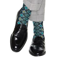 Navy with Ceramic and Yolk Foulard with White Accents Cotton Sock Linked Toe OTC Sock Shoes, Shoe Boots, Mens Trends, Patterned Socks, Happy Socks, Cotton Socks, Dapper, Loafers Men, Me Too Shoes