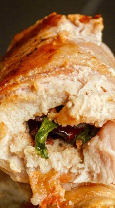 Boneless Pork Loin Chops Stuffed with Apple and Bacon