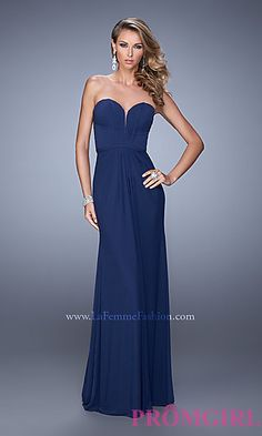 Strapless Sweetheart Gown by La Femme at PromGirl.com