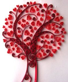 Love in red tree