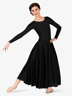 Women's Worship Long Sleeve Dance Dress - Style No BW512