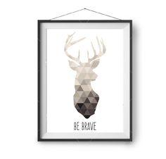 Deer Print Nudes Print Beige Art Neutrals Wall Art Deer