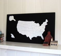 Paint a thrift store puzzle for cheap wall art. Maybe put a red heart over your home.